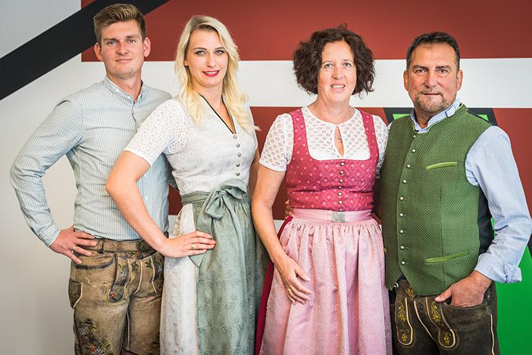 von links nach rechts: Manuel Wimmer, Marie Wimmer, Peter Wimmer, Erni Wimmer
